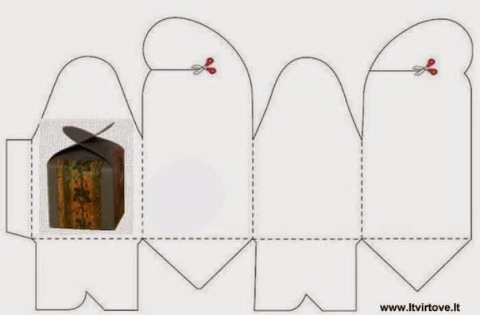 Выкройка коробочка из бумаги своими руками