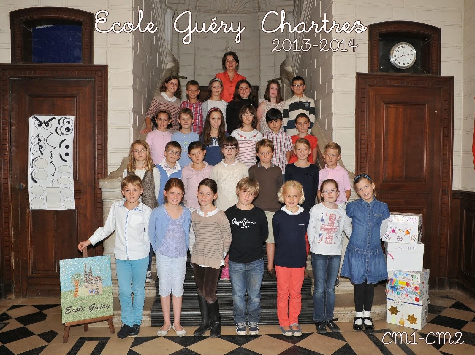 Classe des CM1-CM2, école Guéry, Chartres, année 2013/2014