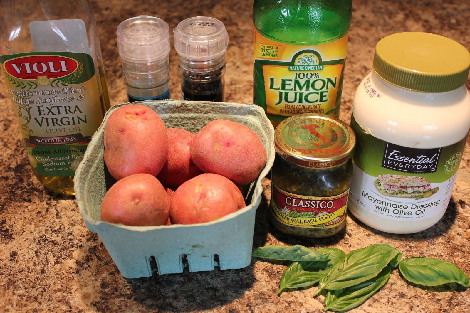 The Busy Moms' Recipe Box: Creamy Lemon Basil Potato Salad