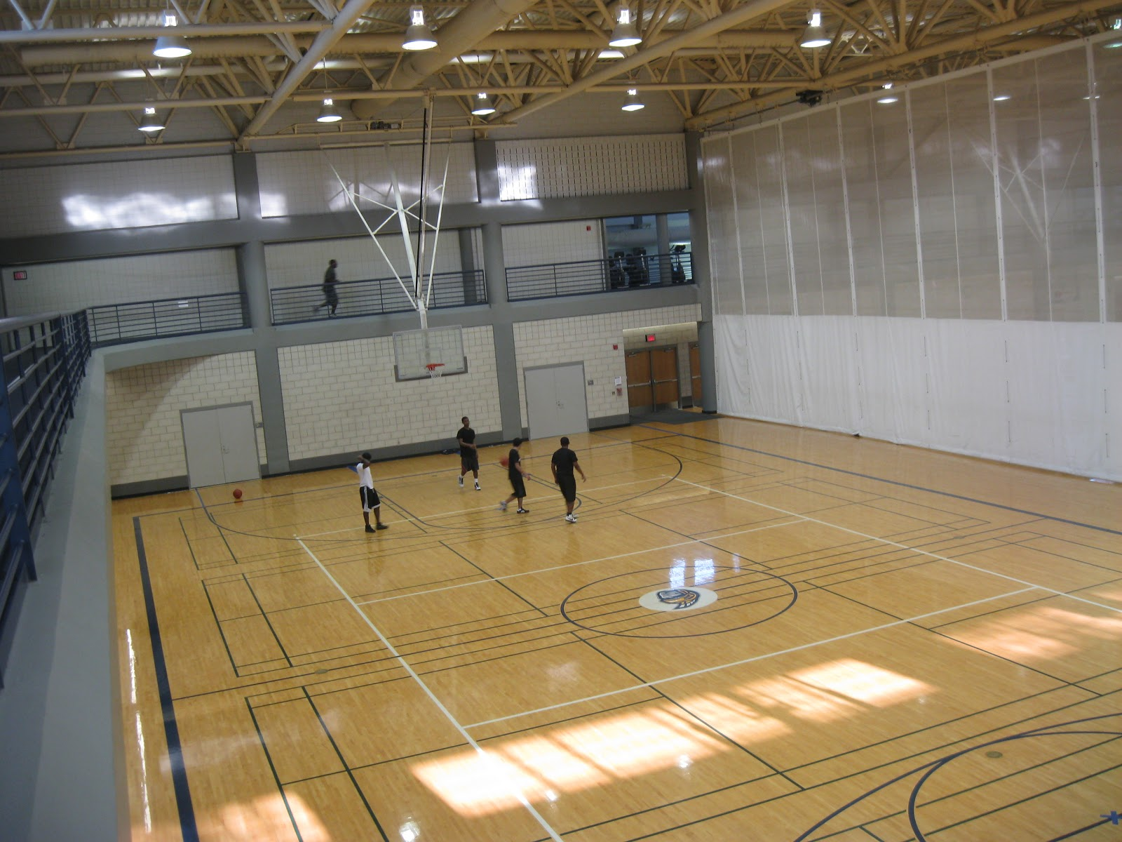 College Basketball Indoor Basketball Court