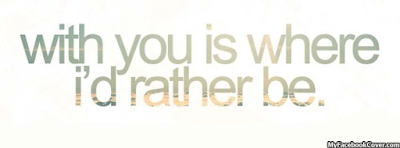 With You Quote Facebook Covers