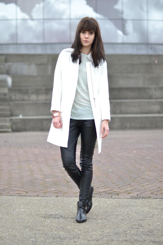 Zara leather jacket jakarta