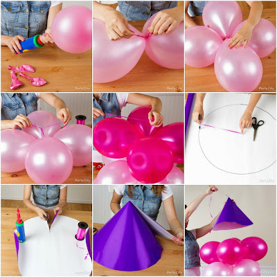 Castillo con globos paso a paso