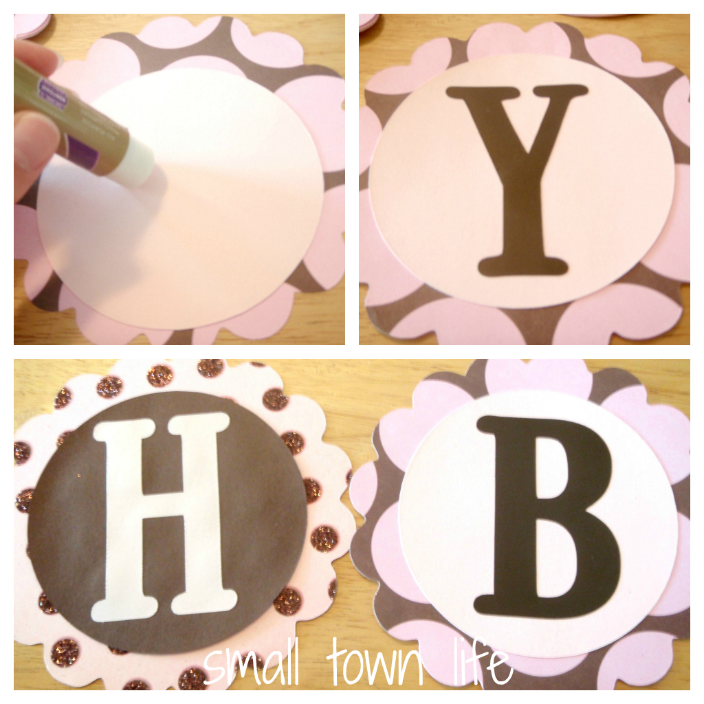 small town life diy scalloped birthday banner