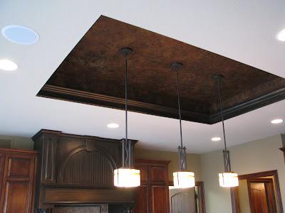 Metallic Kitchen Ceilings