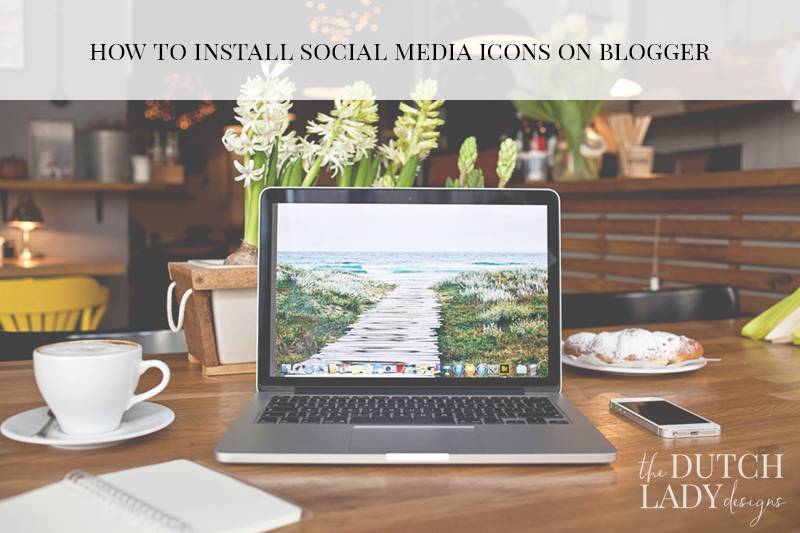 installing social icons on blogger