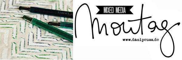 Mixed Media Montag | DIY: Stoffbezug mit Gesso, Masks und Paper Crafter Crayons von Faber Castell