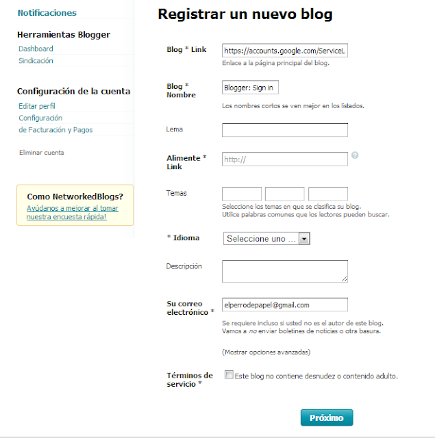 tutorial networkedblog para blogger