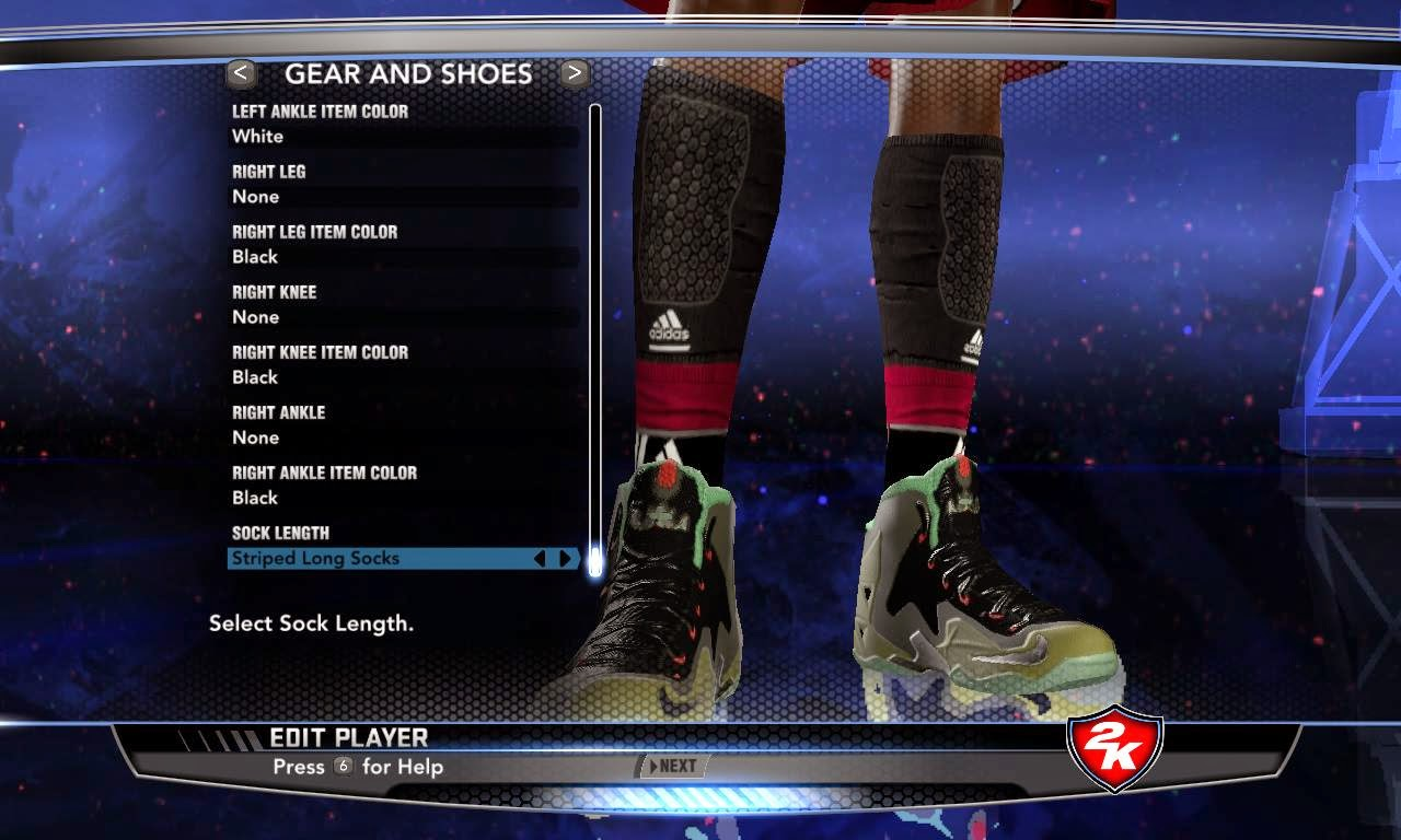 Nba 2k14 nike adidas accessories global patches