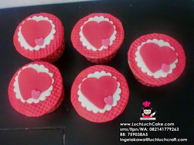 Cupcake Hati Romantis Daerah Surabaya Sidoarjo