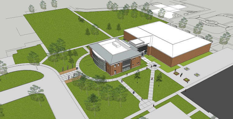 Birdseye View of new Bryan Information Commons