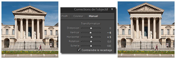Lightroom - correction de la perspective