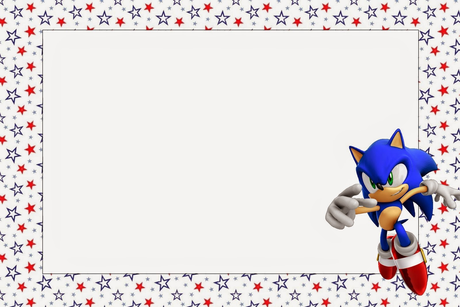 Sonic: Free Printable Invitations, Labels or Cards.