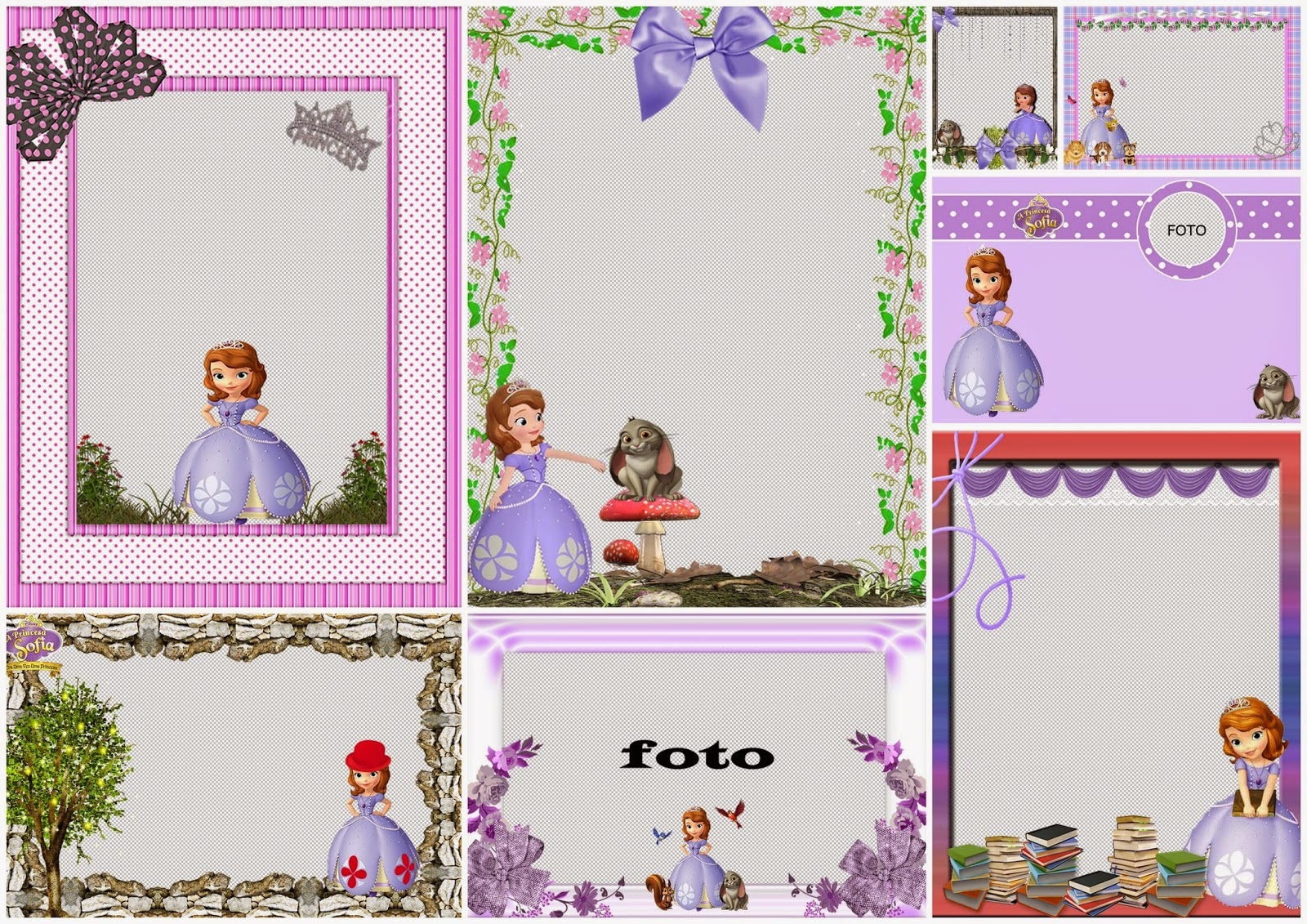 Princess Sofia the First: Free Printable Invitations, Labels or Cards.