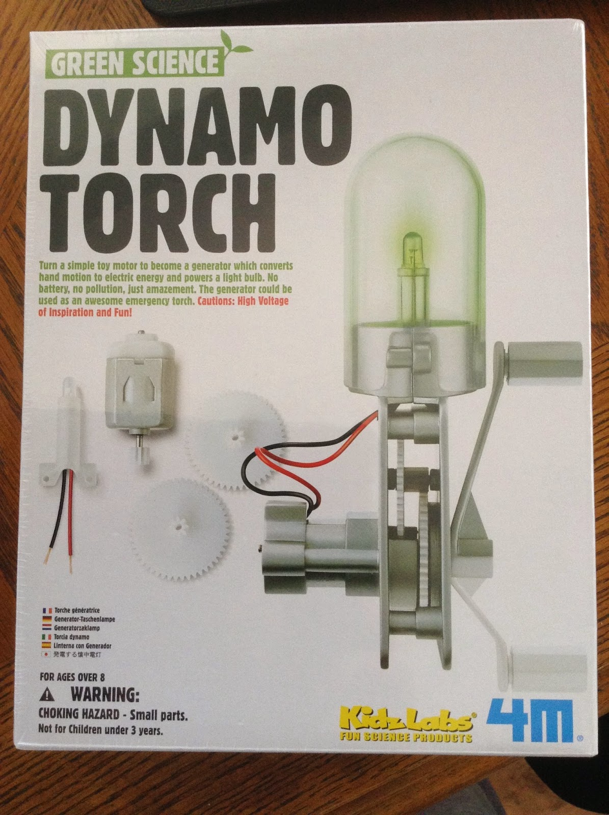 Great Gismos 4M Green Science Dynamo Torch
