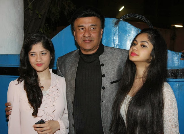 Anu Malik with his two daughter Anmol Malik and Ada Malik
