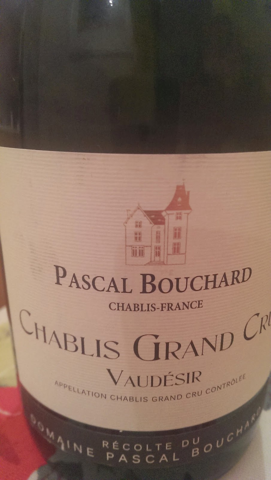 The Cambridge Wine Blogger Pascal Bouchard Chablis Grand
