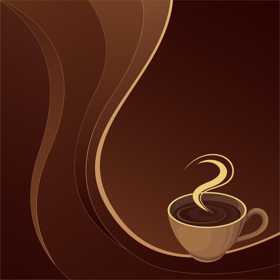 珈琲を題材にした背景 coffee theme vector イラスト素材3
