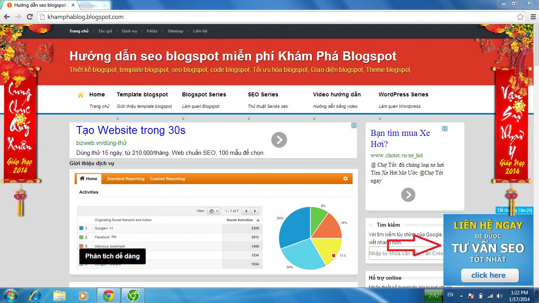 popup quảng cáo góc màn hình cho blogspot