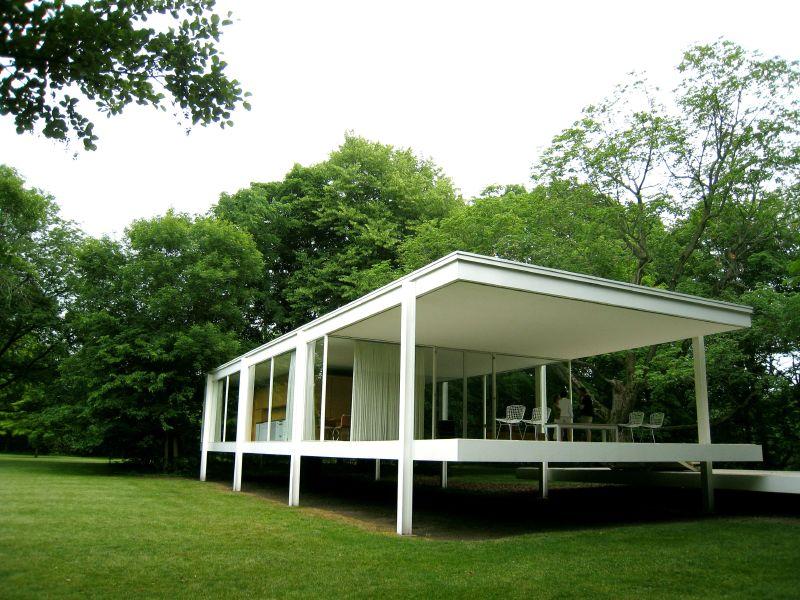 El plan z arquitectura mies van der rohe casa farnsworth for Casa minimalista de mies van der rohe