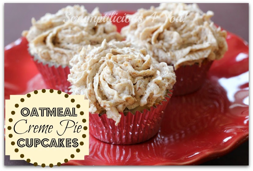 Oatmeal Creme Pie Cupcake Recipe