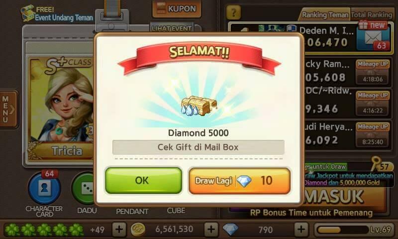 Cara Dapat Diamond 5000 LINE Let's Get Rich