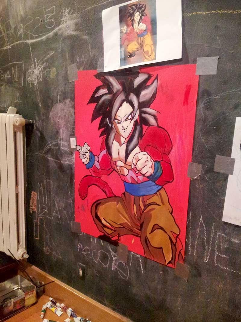 Berok Graffiti mural profesional en Barcelona Graffiti mural Goku