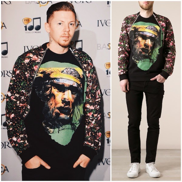 Professor Green in Givenchy - Ivor Novello Awards 2014 #ivornovellos