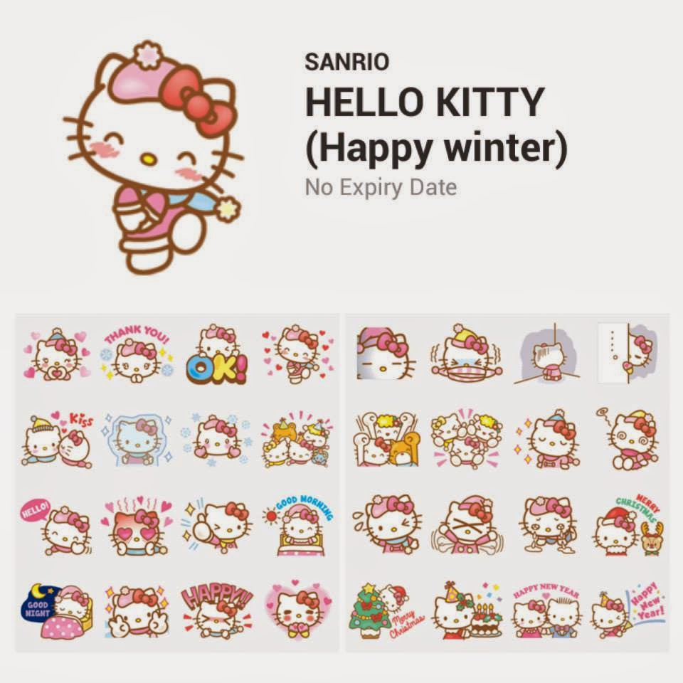 hello kitty loft hello kitty happy winter line stickers. Black Bedroom Furniture Sets. Home Design Ideas