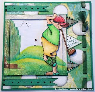 Claudias Karteria Happy Birthday On Golf