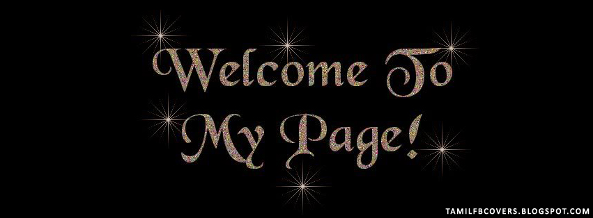 My India FB Covers: Welcome To My Page - Welcome FB Cover