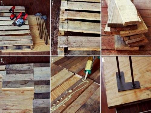 El mundo del reciclaje diy mesa de pal s - Reciclaje de pales ...