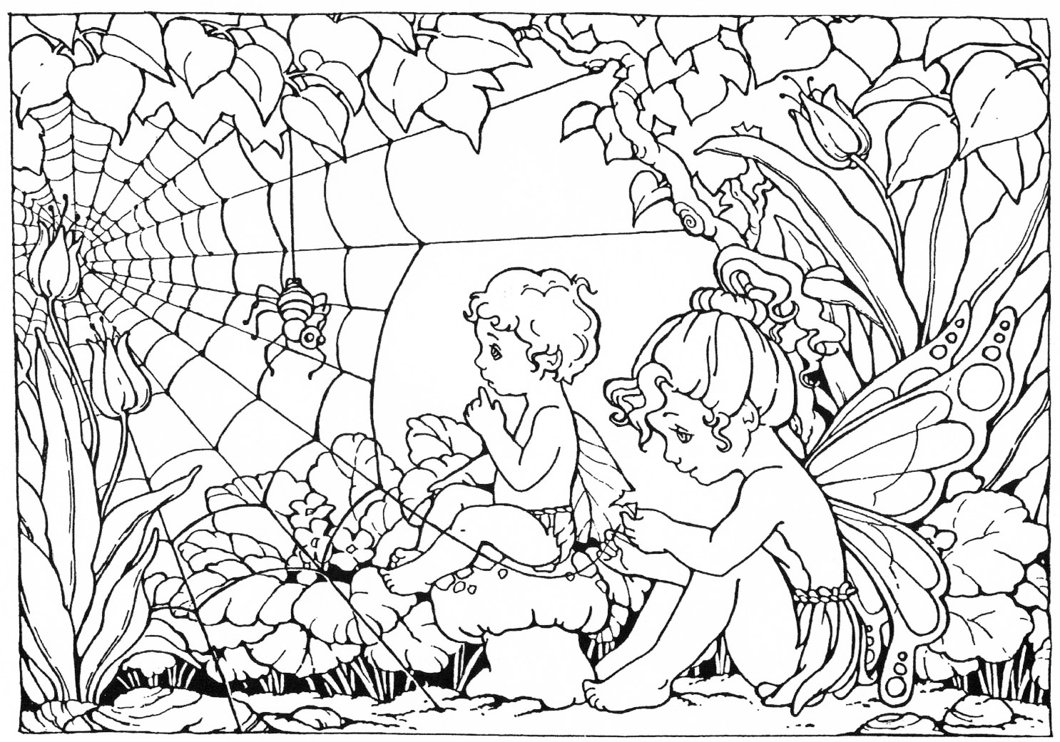 PRINT AND COLOUR FAIRY COLOURING PAGE