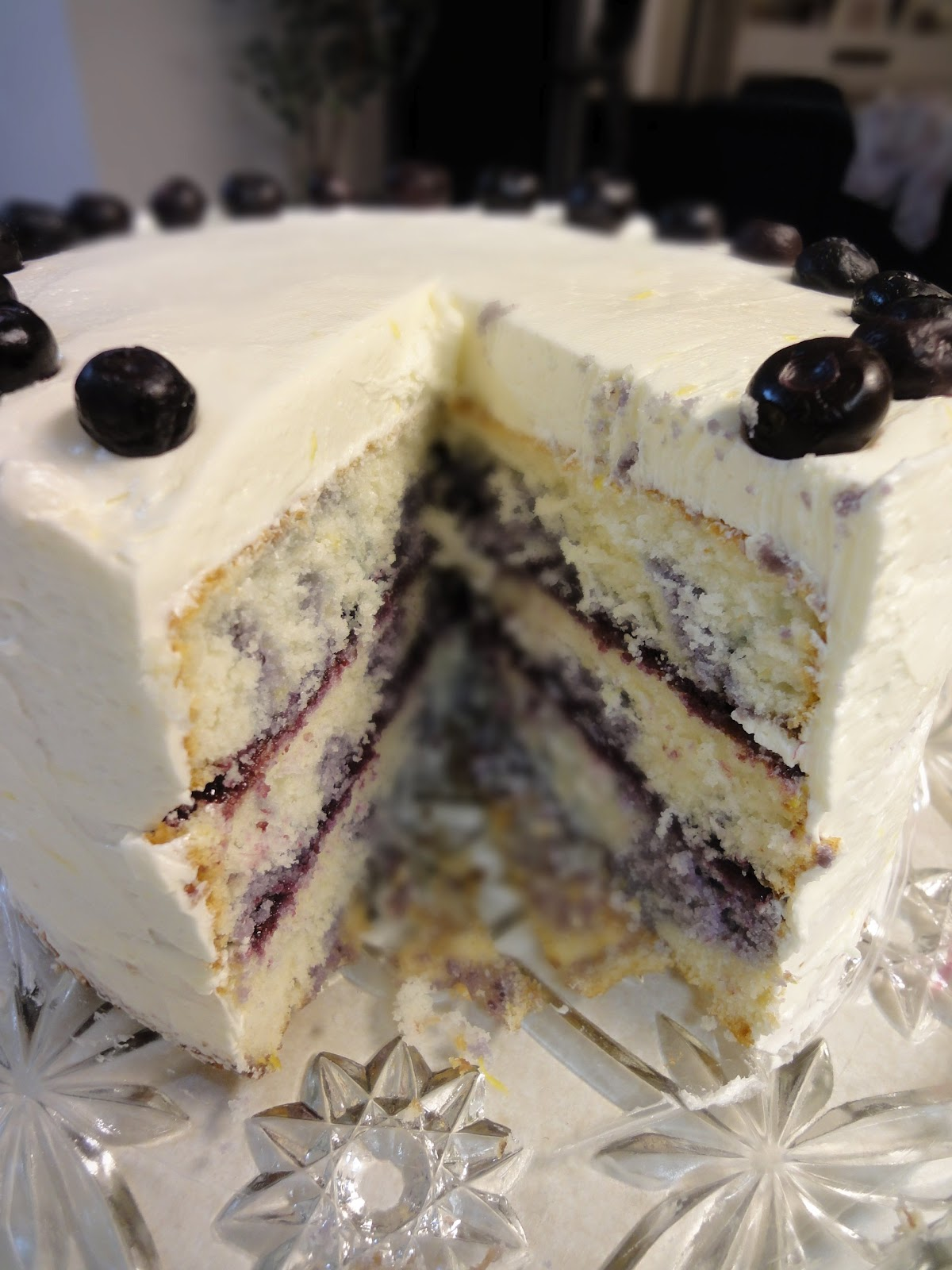 Blueberry Marble Coffee Cake Recipe — Dishmaps