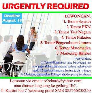 Lowongan Kerja Lampung, Study Commitments (S.Co)