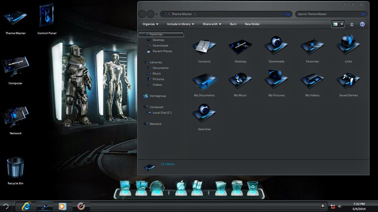 Download Iron Man 3Windows Vista Theme