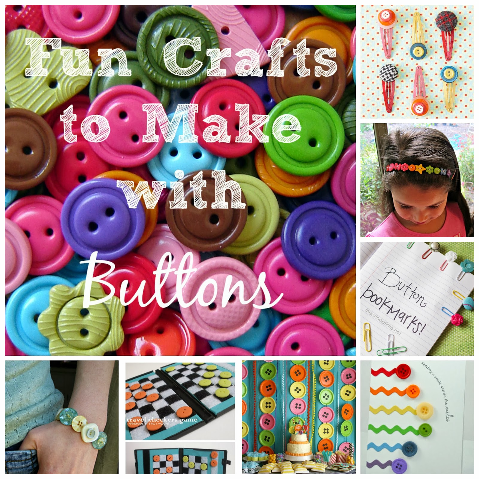 Fun crafts to make with buttons