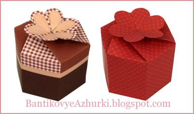 Коробочка для подарка на день святого валентина