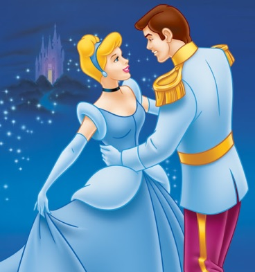 La Cenicienta bailando con su príncipe