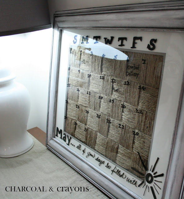 Charcoal And Crayons Jute Calendar
