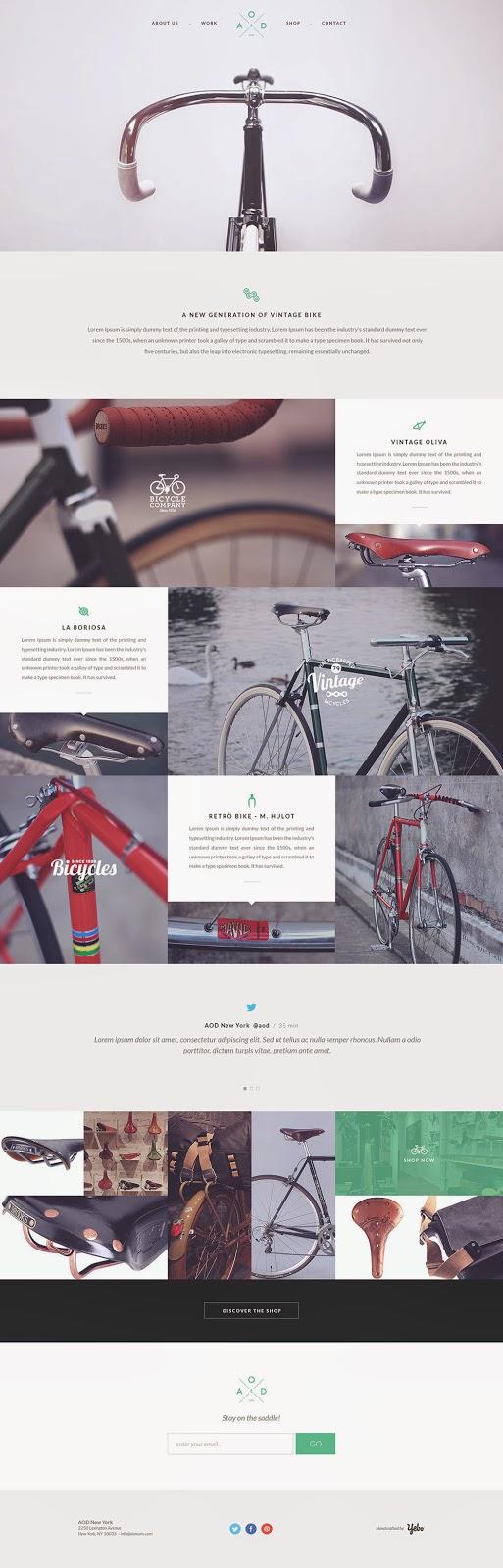 Template PSD sepeda website