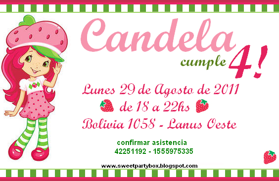 Sweet Party Box: CUmPle De CanDela: FruTiLliTaS (Strawberry Shortcake)