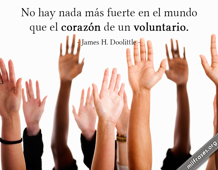 frases de voluntariado, imágenes, historia de James H. Doolittle