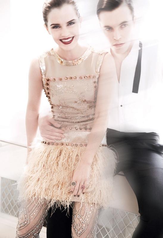 emma watson vogue 2011 us. VOGUE US July 2011 - Emma Watson by Mario Testino