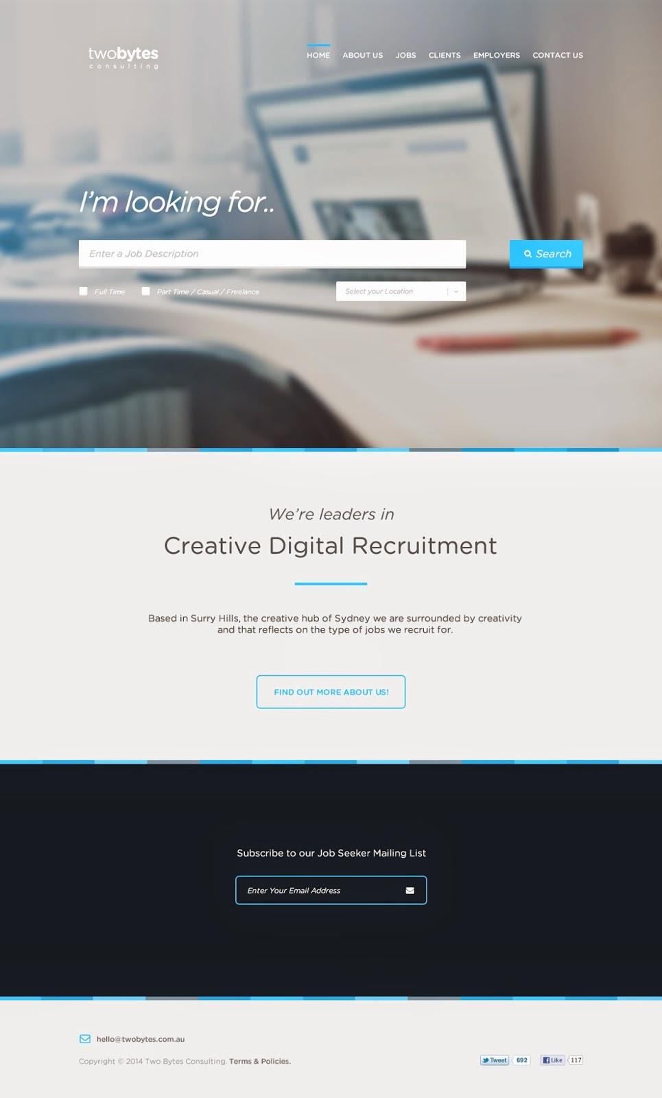 Free Website Template PSD File