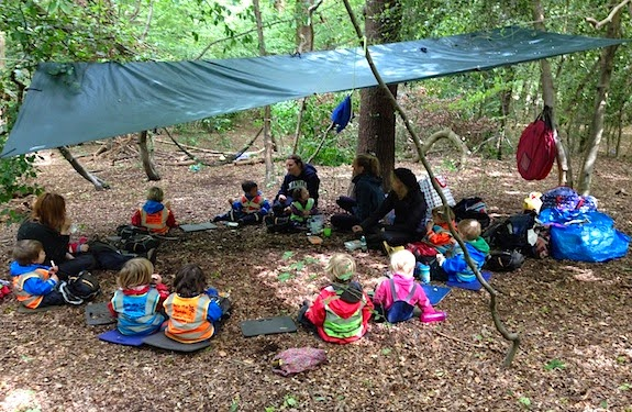 At Into The Woods Outdoor Nursery The Children Spend Most Days Outside Enjoying Fresh Air Imagination And A Unique Education