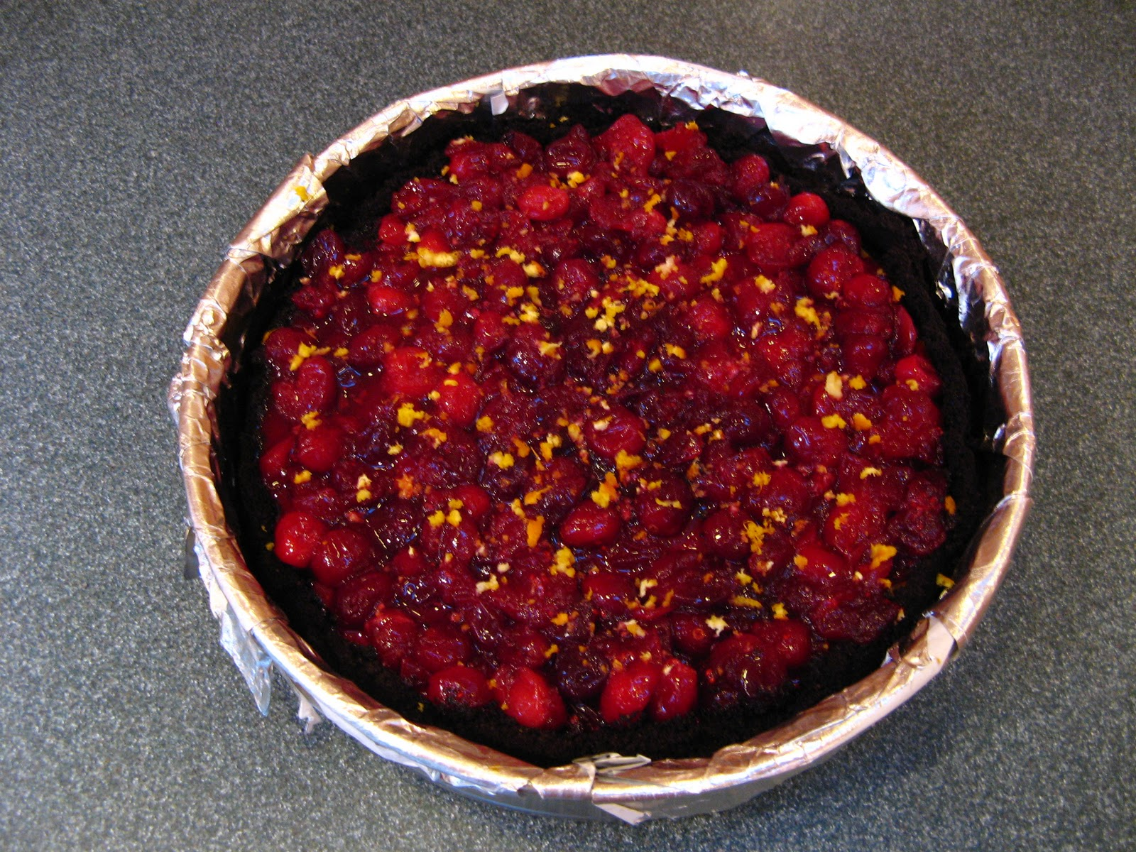 ... Easy: Cranberry Orange Pumpkin Cheesecake with Chocolate Cookie Crust