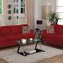 Model Sofa Ruang Tamu Terbaru Warna Merah