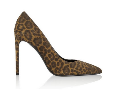 Saint Laurent Leopard print high heeled pumps