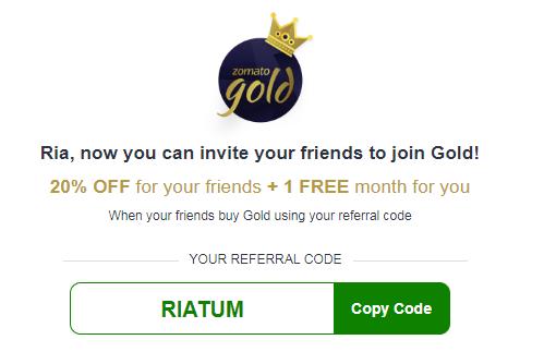 ZOMATO GOLD